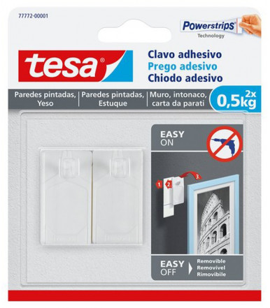 Chiodi adesivi bianchi per carta da parati ed intonaco 0,5 kg Tesa