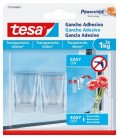Tesa Powerstrips Adhesive hooks for transparent surfaces and glass