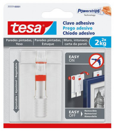 Tesa Adhesive Adjustable Nail white for Wallpaper & Plaster 2 kg