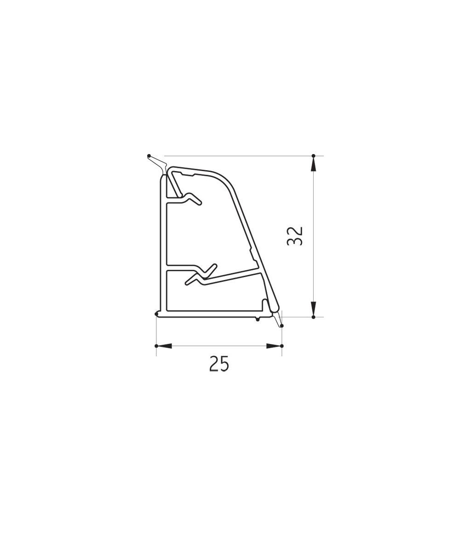 Alzatina a onda in alluminio Volpato 50/61.500AL