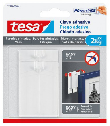 Chiodi adesivi bianchi per carta da parati ed intonaco 2 kg Tesa