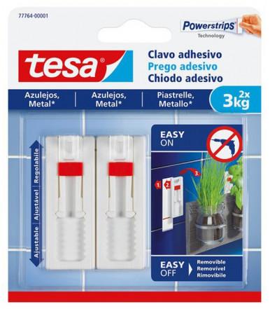 Tesa Verstellbarer Klebenagel weiß für fliesen und mettal 3 kg