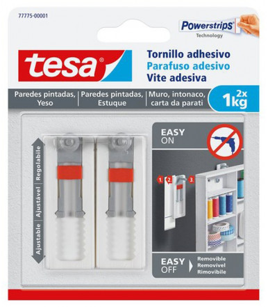 Tesa Adhesive Adjustable screws white for Wallpaper & Plaster 1 kg