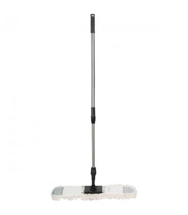 Floor duster with removableand cotton head telescopic handle, 60 cm - Maxi Cotone più - Top line