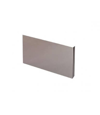 Side couple for cooker hoods in brushed aluminium