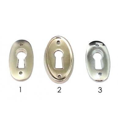 Escutcheon for cabinet and furniture Chrome line