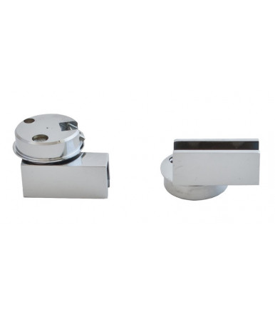 Free hinge without return spring for glass doors PRACTIC MONO50