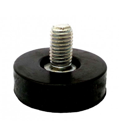 Adjustable foot for furniture home appliances and shelving with screw