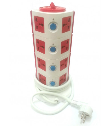 Tower Multipurpose with 12 Multifunctional Cable and Schuko Plug