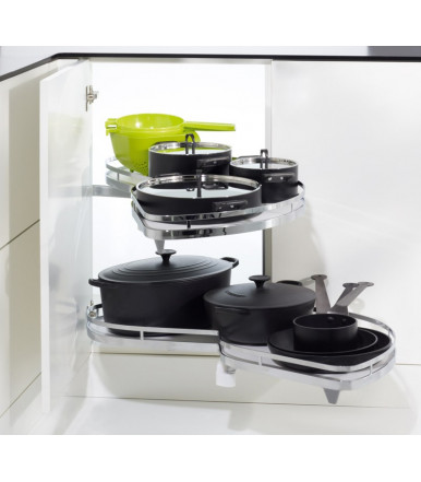 Kesseböhmer Set 2 trays swing for corner cabinets unit solution LeMans II