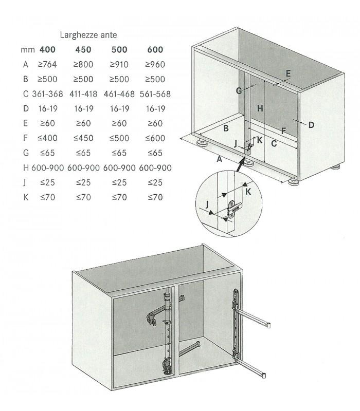 Set 2 ripiani estraibili e orientabili per angolari LeMans II Kesseböhmer