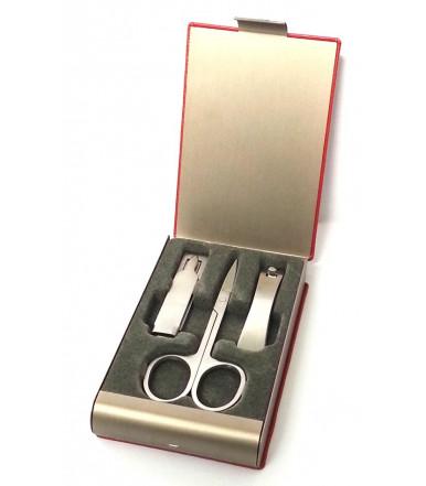 Set Manicure 3 pezzi con Forbicine, Tronchesine e Limetta
