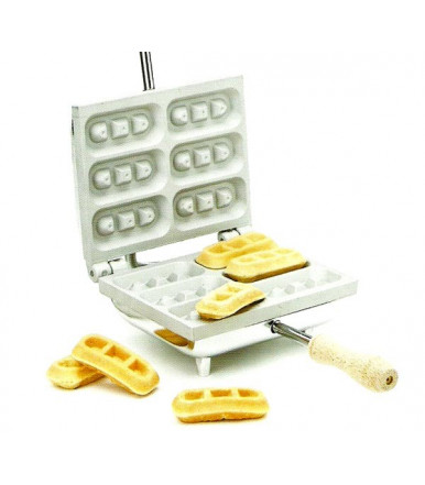 Rectangular electric cookie jar for mini waffles