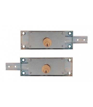 Viro pair of left and right side roller shutter locks with symmetric profile keys