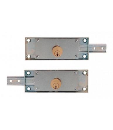 Coppia serrature per serranda laterali Destra e Sinistra con chiavi a profilo simmetrico Viro