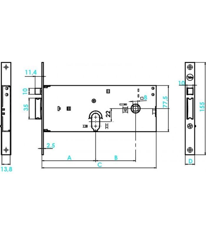 assa abloy serrure corps lev silver basic lectrique. Black Bedroom Furniture Sets. Home Design Ideas