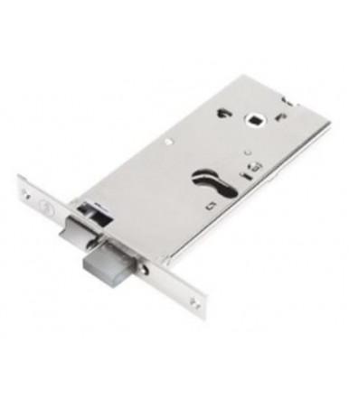 Assa Abloy Cerradura alto Silver Basic para puerta de aluminio - agujero para cilindro perfilado