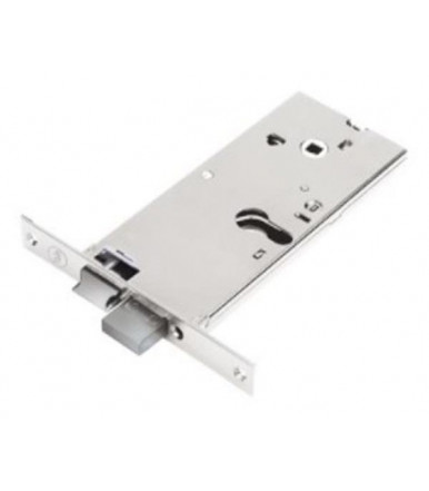 Assa Abloy Lock Silver Basic for aluminum doors with high band - hole for profile cylinder