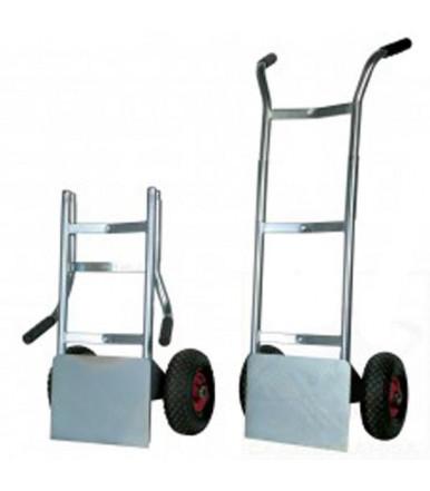 """Carrello portabagagli portasacchi """"LIGHT"""" con pedana ribaltabile 2 ruote pneumatiche nucleo nylon Ø mm 260 Art.009PL"""