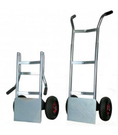 "Carro de cin ""LIGHT"" con portaequipajes con plataforma plegable 2 ruedas neumáticas Ø mm 260 Art.009PL"