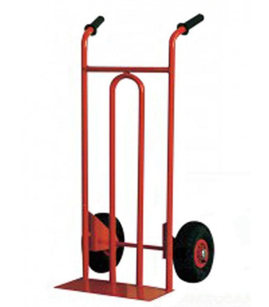 Cart hand truck FM 2 pneumatic wheels nylon center Ø mm 260 Art.012A