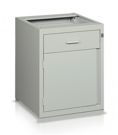 Drawer unit with 1 drawer sliding on rails 1 container with internal fixed shelf BL36066 for work bench