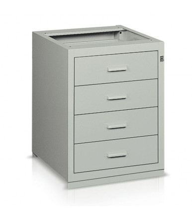 Drawer unit with 4 drawers sliding on rails BL36166 for work bench