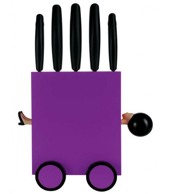 """Ceppo set 5 coltelli """"Magic Box"""" rosso"""