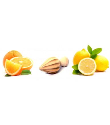 Exprimidor con mini mango en madera de haya artesanías Abruzzo