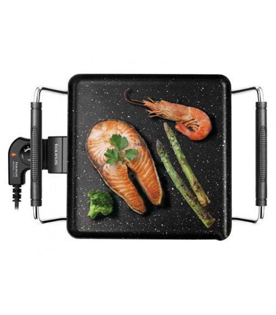 """TAURUS - GALEXIA STONE smooth griddle/electric barbecue with soapstone """"STONE"""" 1800W"""
