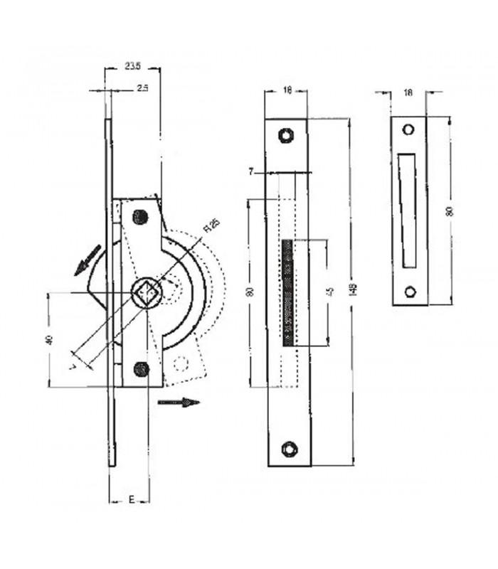 Meccanismo cremonese in ottone per finestra mancini mancini shop - Meccanismo cremonese finestra ...