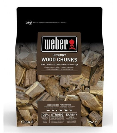 Weber large wood chunks for smoker - Hickory 17619