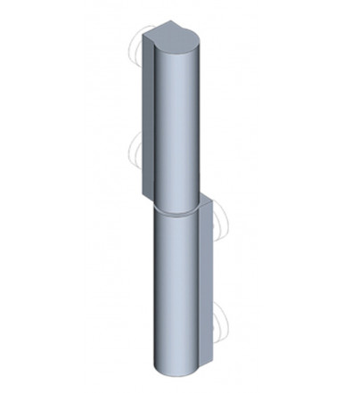 EMKA 1036-U4 Profile hinge zinc plated with weld-on stud raw