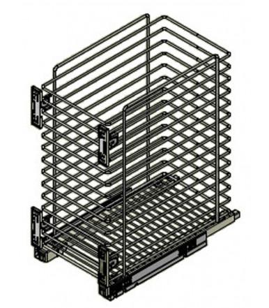 Inoxa laundry basket with doors bracket 2123S Quadro Range