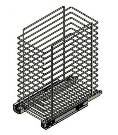 Inoxa laundry basket without doors bracket 2123AS Quadro Range