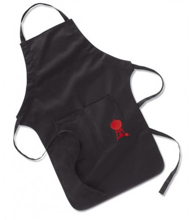 Weber black adjustable apron