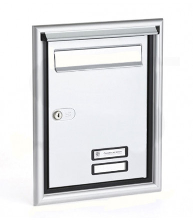 Porta postale completa per esterno da incasso a muro Silmec