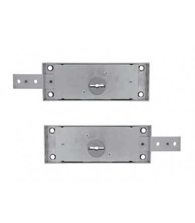 Viro pair of left and right side roller shutter locks with double bit keys