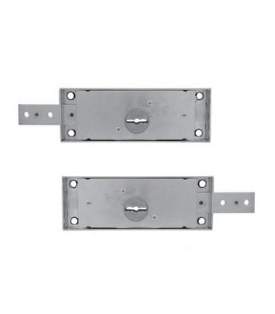 Viro pair of left and right side roller shutter locks with double bit keys