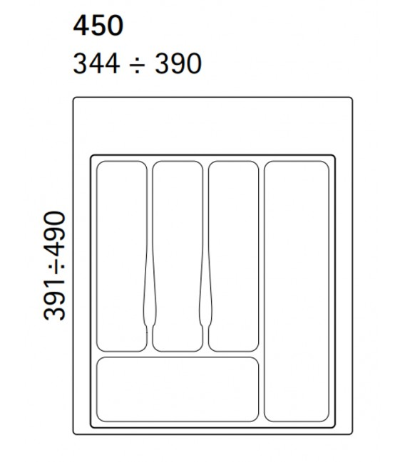 Vassoio portaposate h 45 mm Volpato 32/72.N45GR
