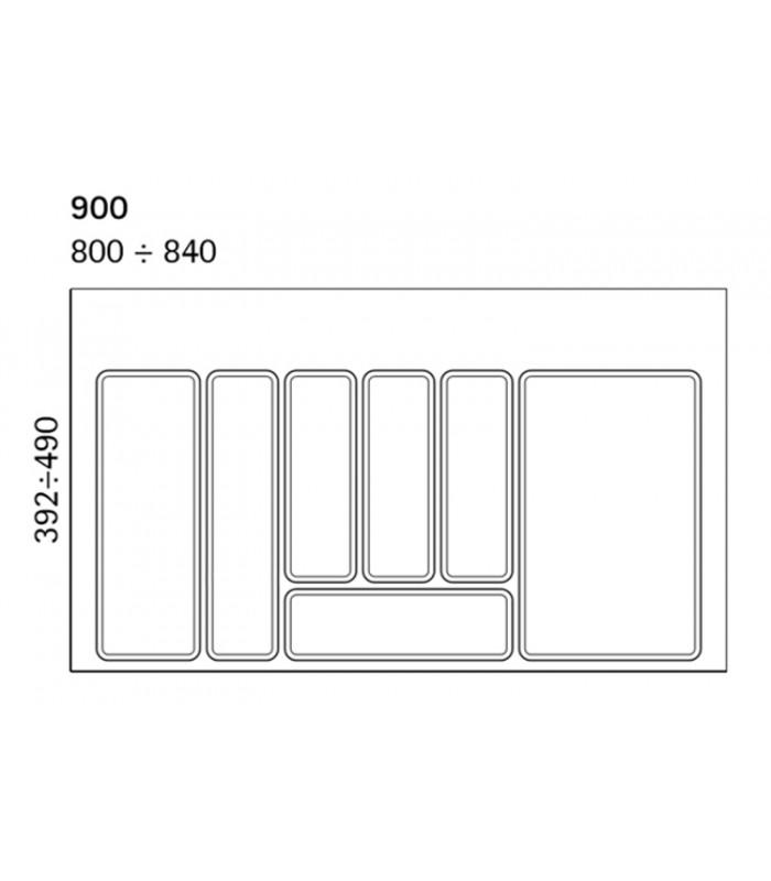 Portaposate Per Cassettiera Da 90 Cm.Vassoio Portaposate Per Cassetto Da 90 Cm Volpato 32 72 N90gr