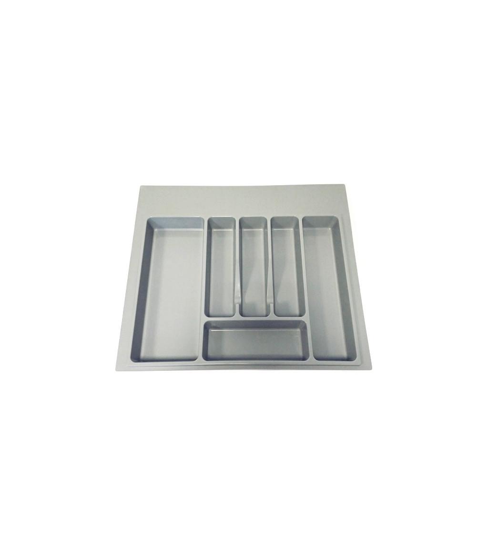 Grigio Portaposate per cassetti larghi 800 mm Vassoio portaposate in ABS Cassetto per posate Vassoio da Posate 73x48x6cm