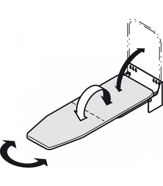 568.66.723 Ironing Board wall mounting Ironfix with aluminium cover