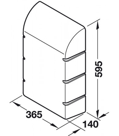 568.66.790 Hood for Ironing Board wall mounting Ironfix 568.66.723