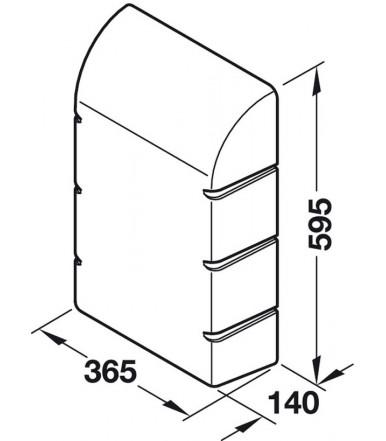 Custodia 568.66.790 per asse da stiro a parete Ironfix 568.66.723