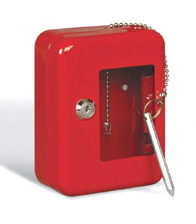 Key cabinets 4000 for emergency keys varnished red Series PLANET
