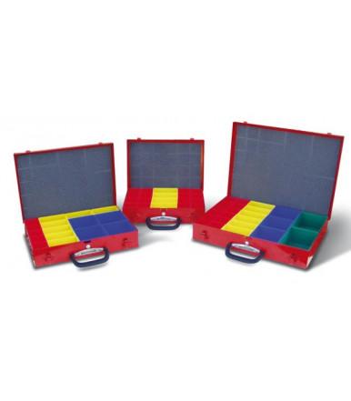 Caja MM000 para piezas pequeñas pintado de rojo Serie SIRIO