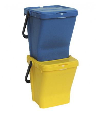 Bidoncino portarifiuti ECOTOP 35 Lt. per raccolta differenziata Mobil Plastic