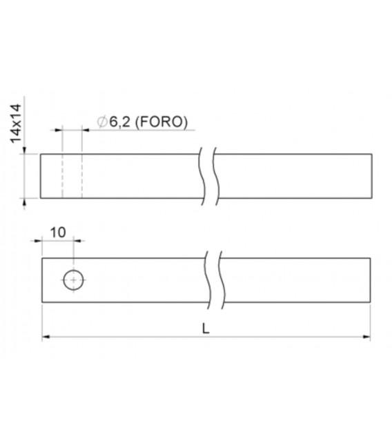 394 Combi square lever bolt rod 14x14 for windows