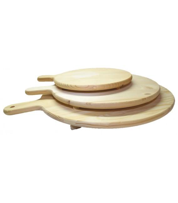 Tagliere da portata in legno di abete artigianato abruzzese